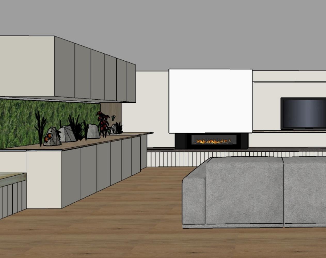Burraneer Bay 1 render, Oliver Myles Interiors