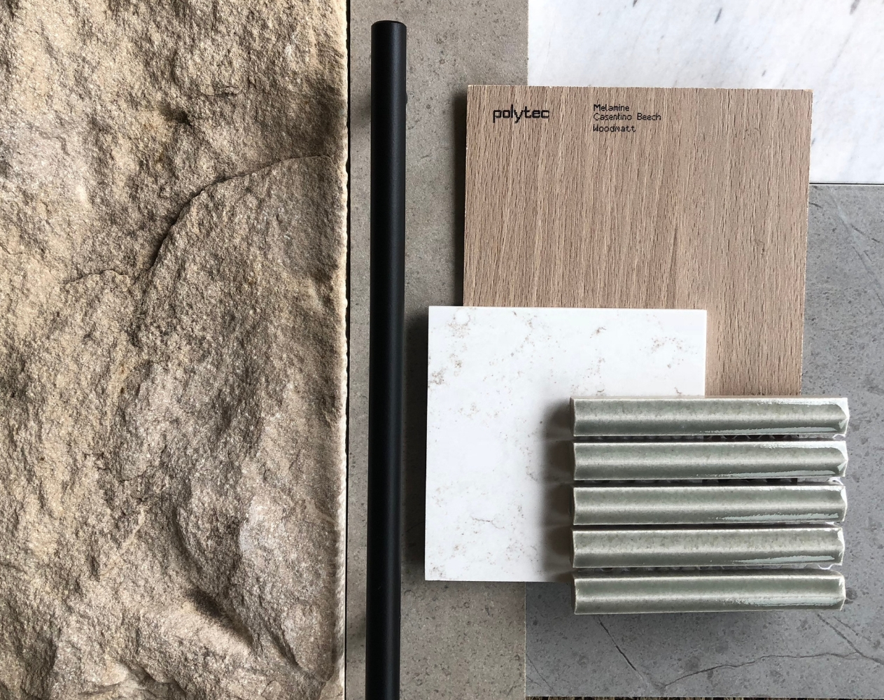 Taren Point materials, Oliver Myles Interiors